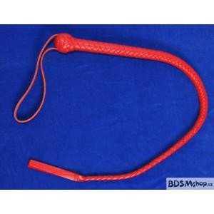 Pletený bič - 75 cm červenočerný