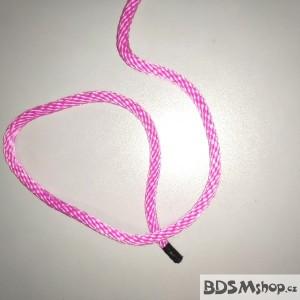 Provaz růžový 8 mm